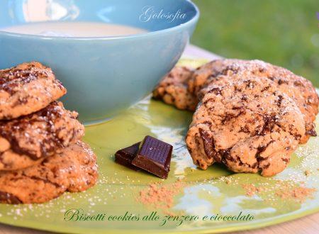 Biscotti cookies allo zenzero e cioccolato, ricetta semplice buonissima!