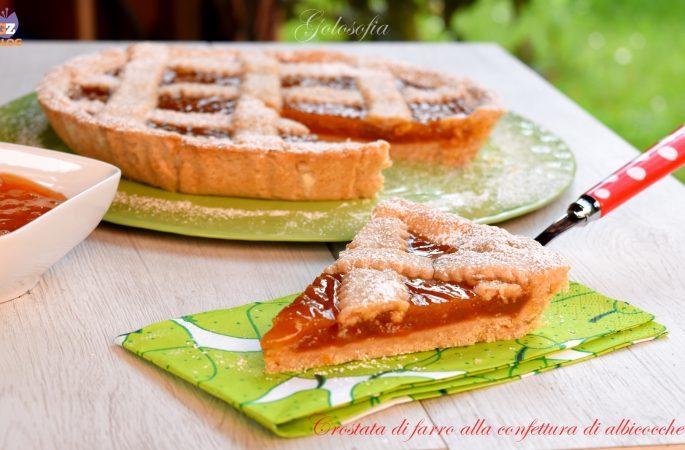 Crostata di farro alla confettura di albicocche, ricetta buonissima