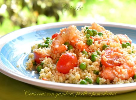 Cous cous con gamberi, piselli e pomodorini, ricetta squisita