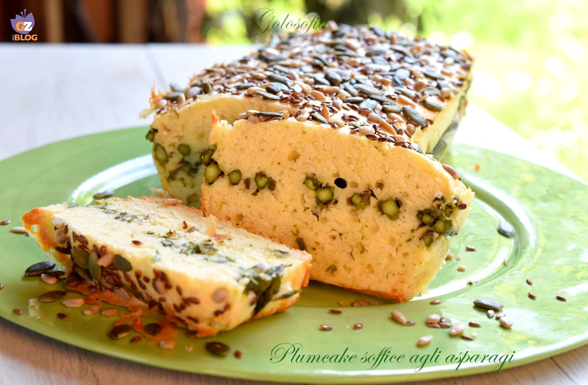 Plumcake soffice agli asparagi-ricetta plumcake-golosofia