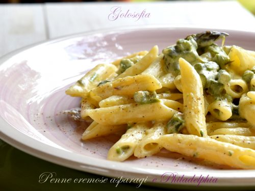 Penne cremose asparagi e Philadelphia, ricetta veloce buonissima