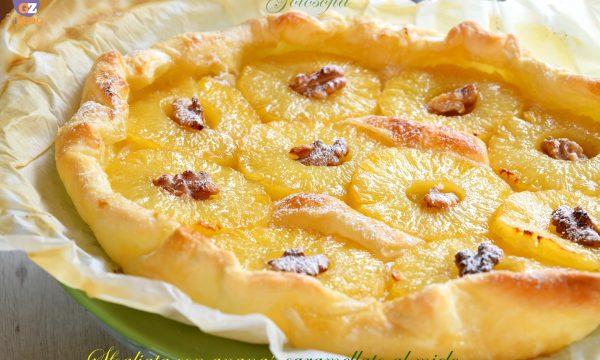 Sfogliata con ananas caramellato al miele, ricetta buonissima