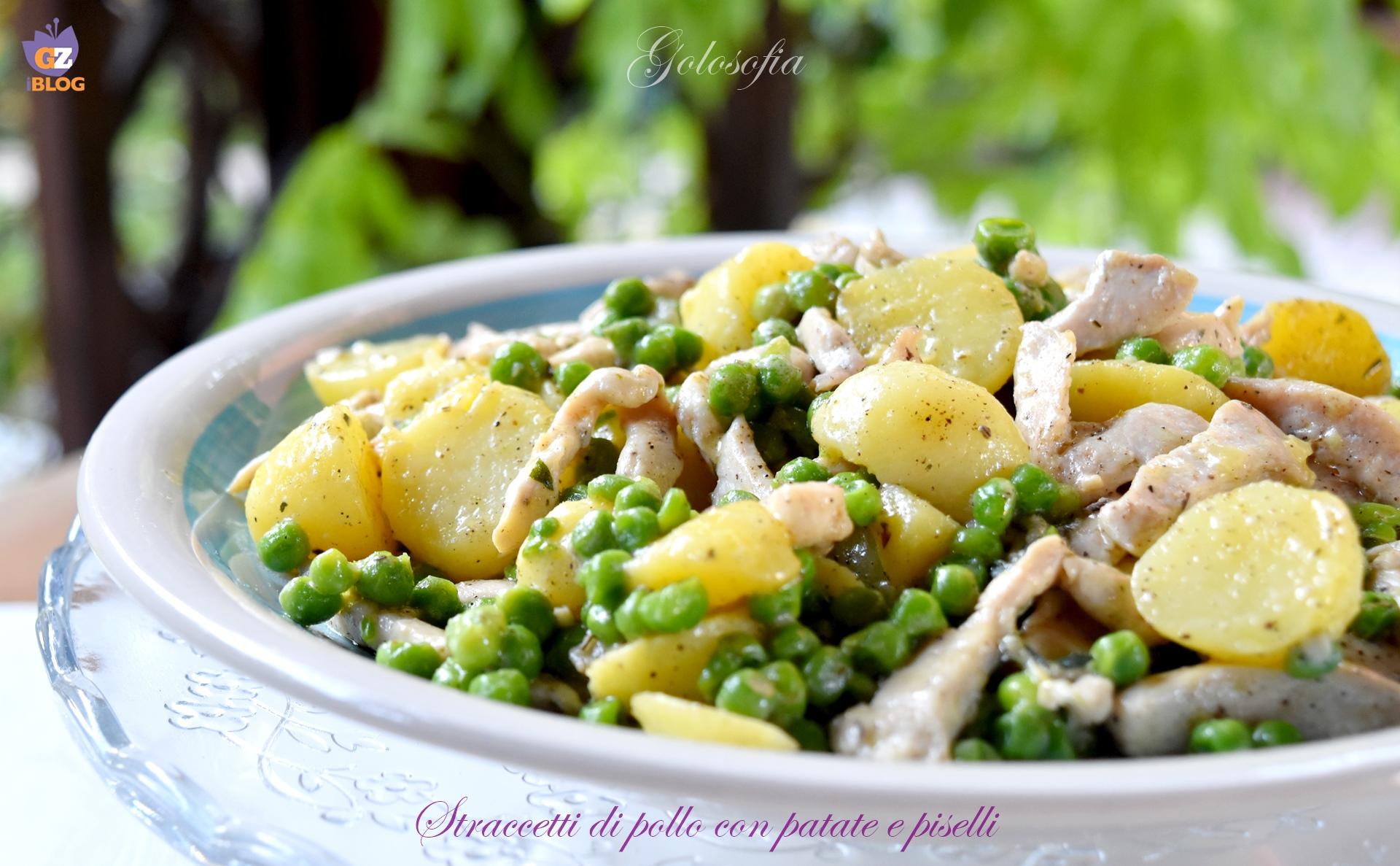 Straccetti di pollo con patate e piselli-ricetta secondi-golosofia