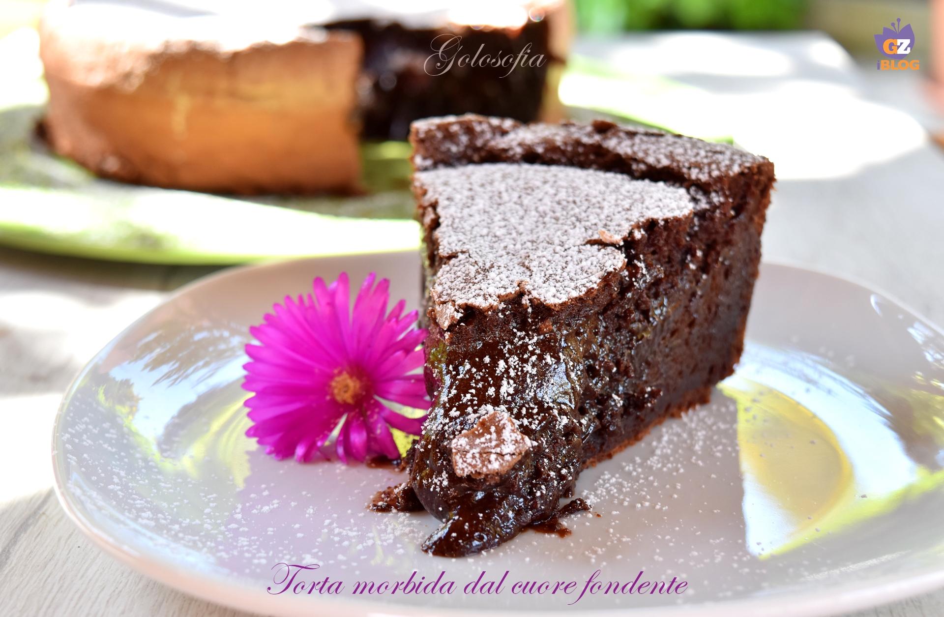 Torta morbida dal cuore fondente-ricetta torte-golosofia