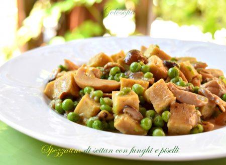 Spezzatino di seitan con funghi e piselli, ricetta buonissima!