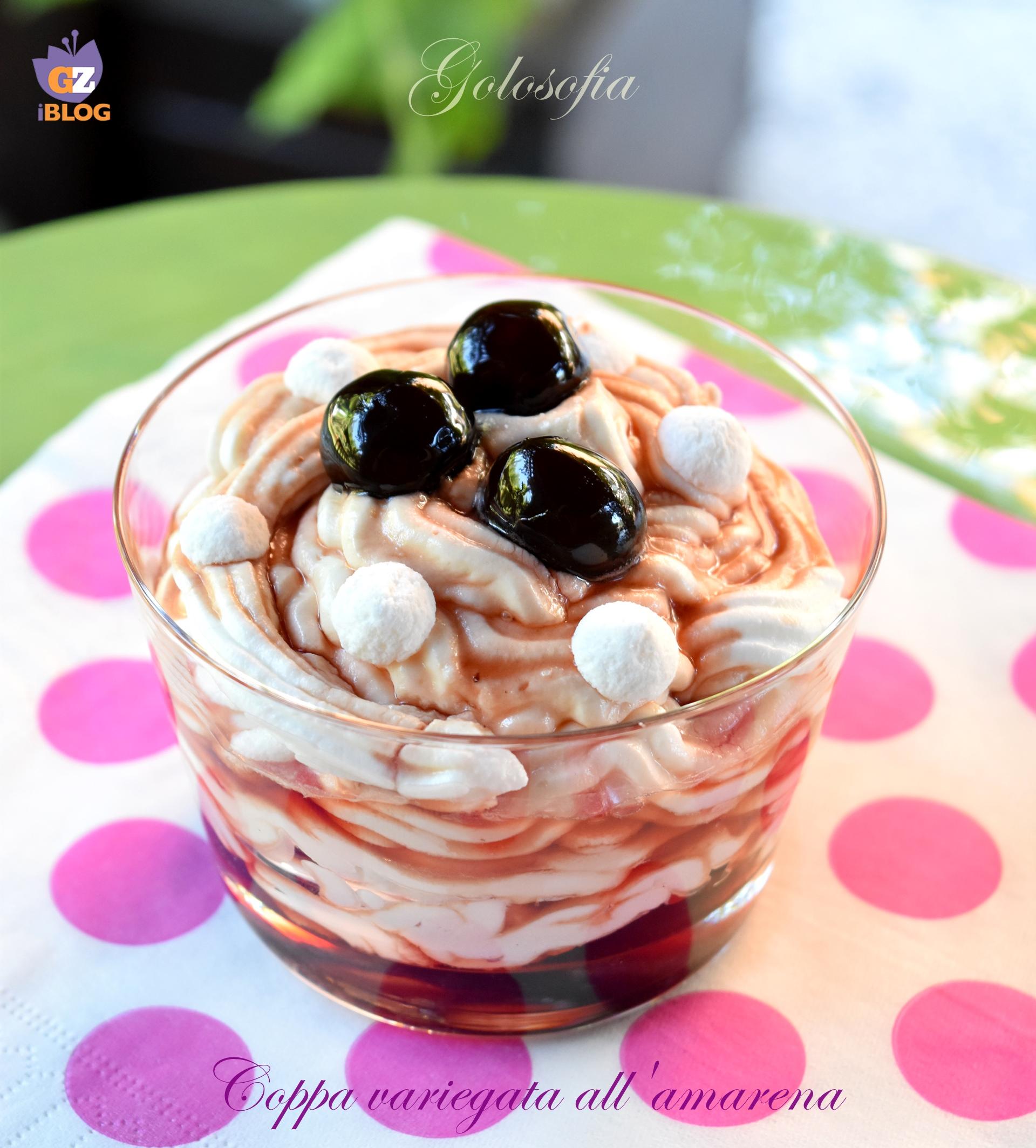 Coppa variegata all'amarena-ricetta dolci-golosofia