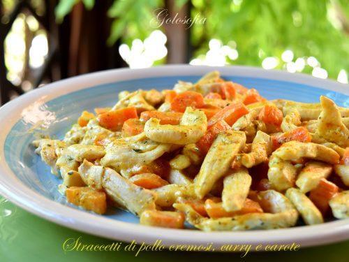 Straccetti di pollo cremosi, curry e carote, ricetta veloce buonissima