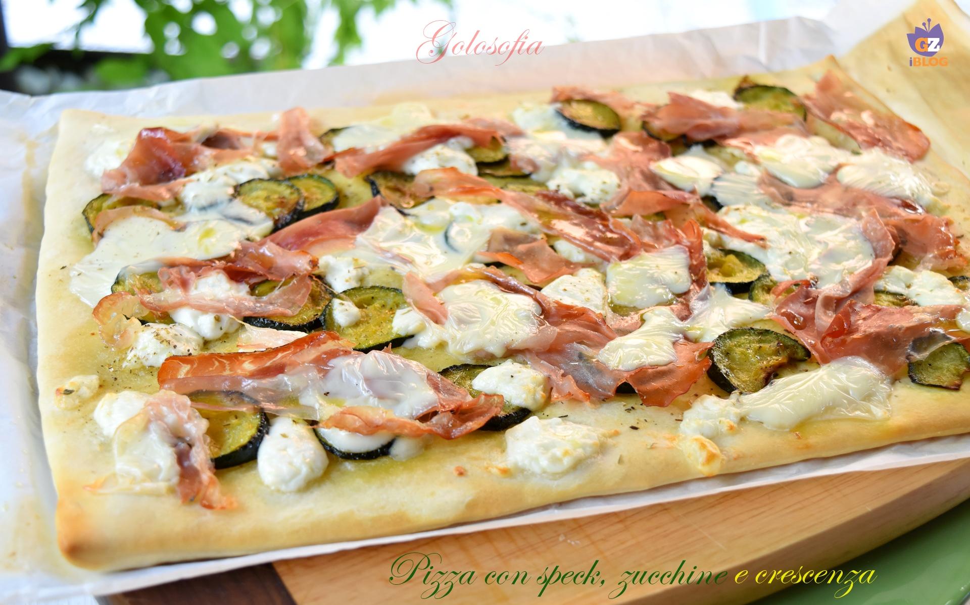 Pizza con Speck, Zucchine e Crescenza, Ricetta Veloce Buonissima