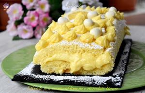 Rotolo con crma al limone e cioccolato bianco-ricetta dolci-golosofia