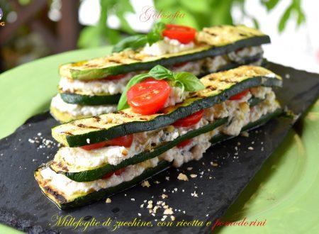 Millefoglie di zucchine, con ricotta e pomodorini, ricetta buonissima