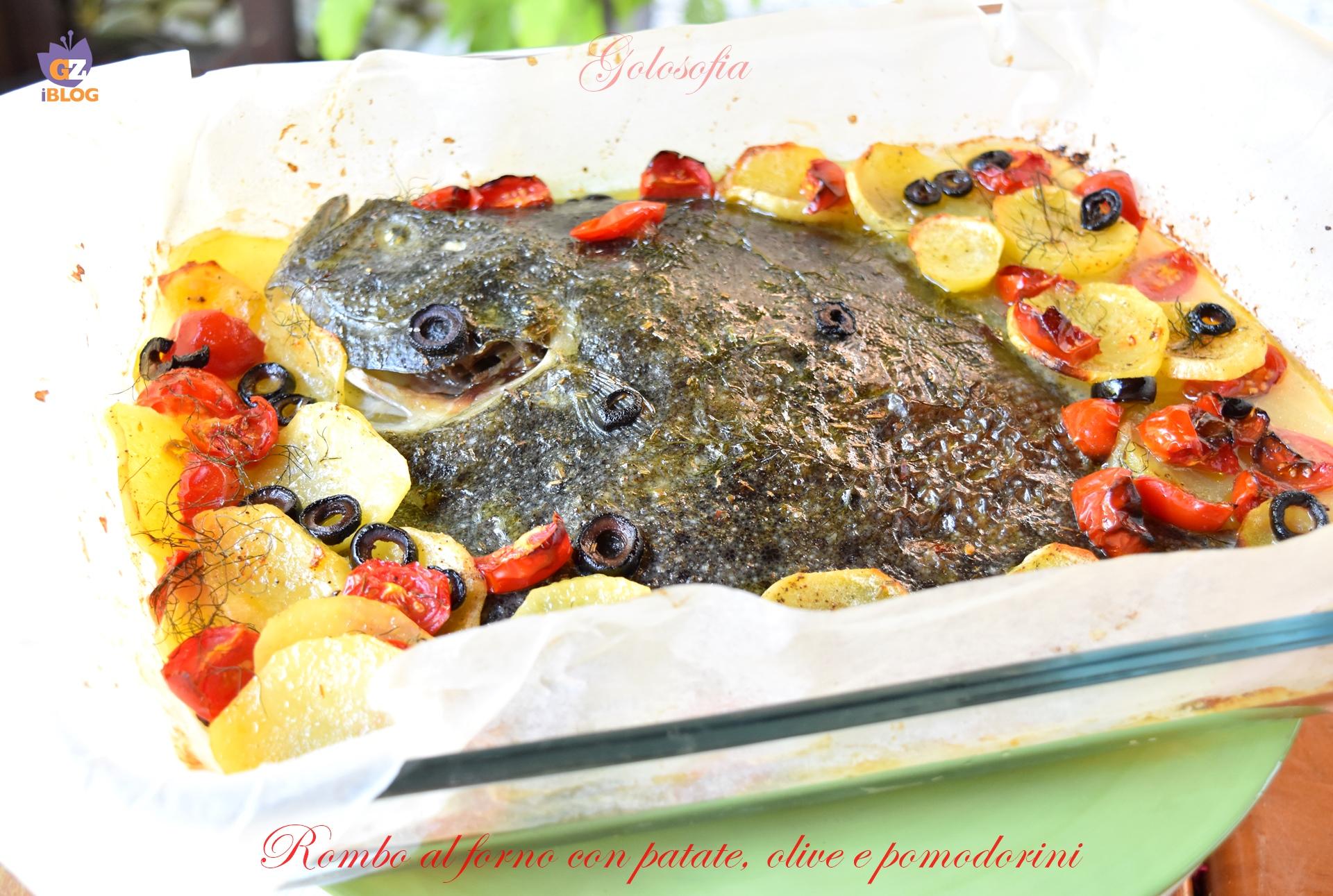Rombo al Forno con Patate, Olive e Pomodorini, Ricetta Favolosa