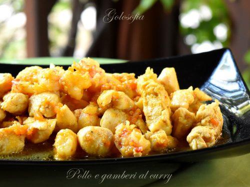 Pollo e gamberi al curry, ricetta buonissima e cremosa