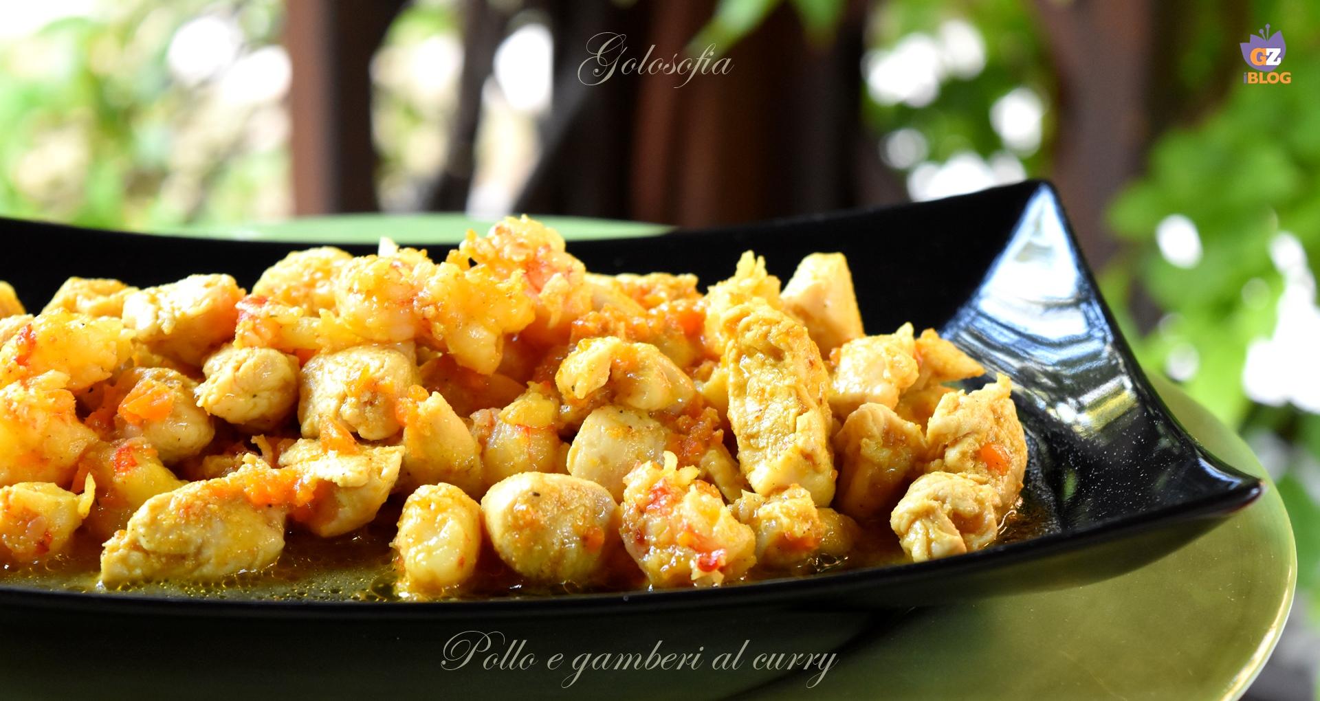 Pollo e gamberi al curry-ricetta secondi-golosofia