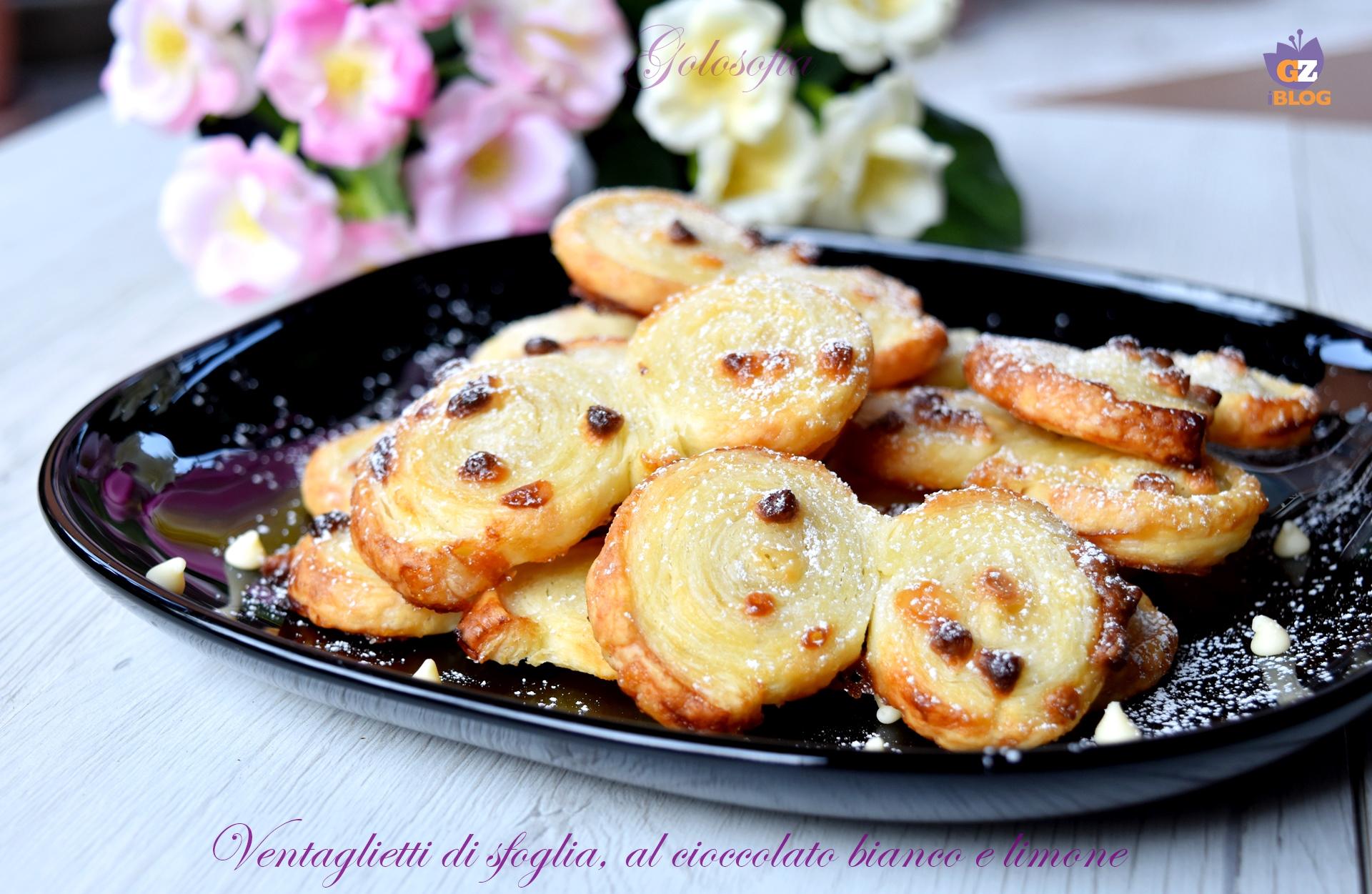 Ventaglietti di sfoglia al cioccolato bianco e limone-ricetta