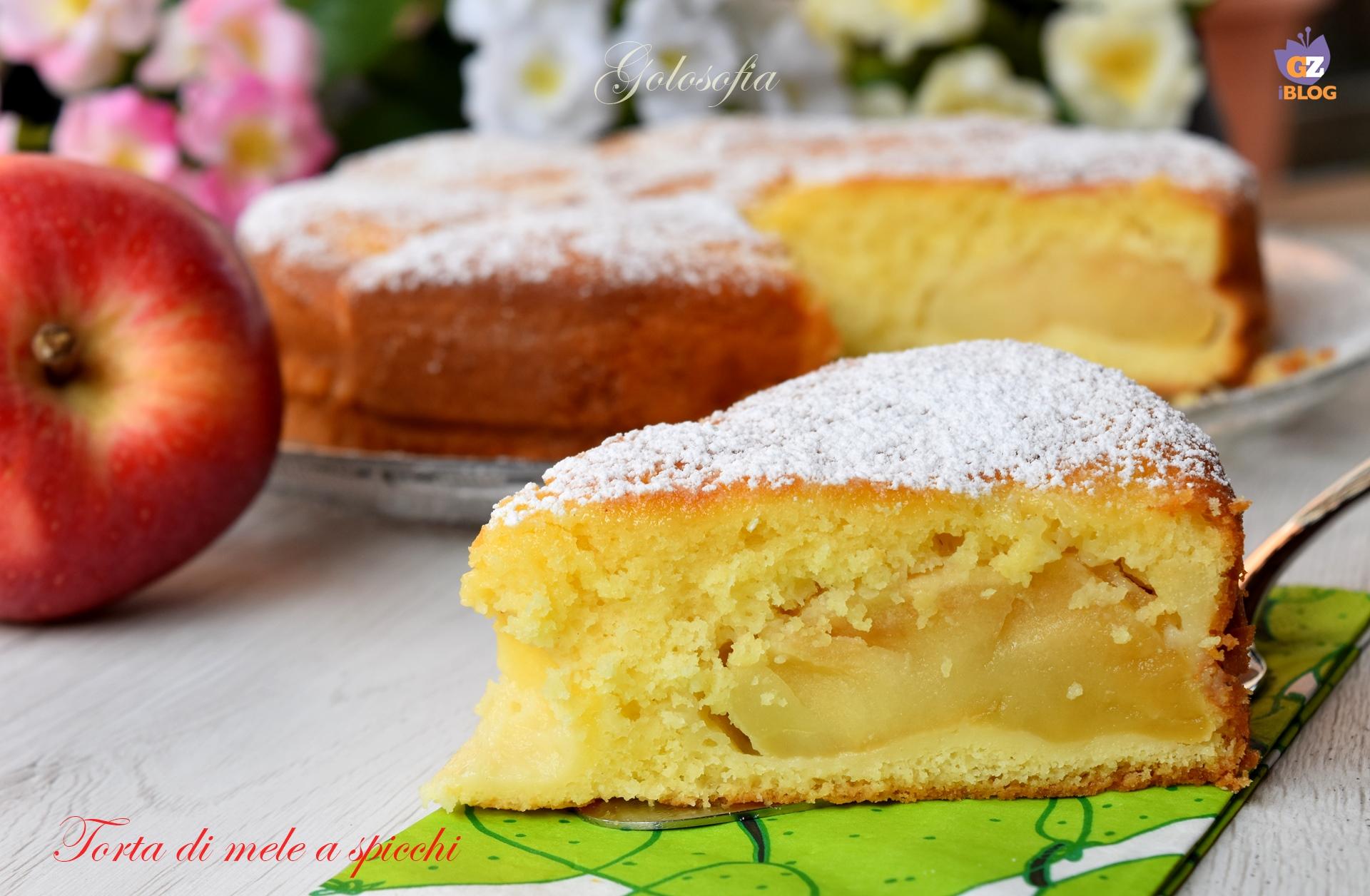 Torta di mele a spicchi-ricetta torte-golosofia