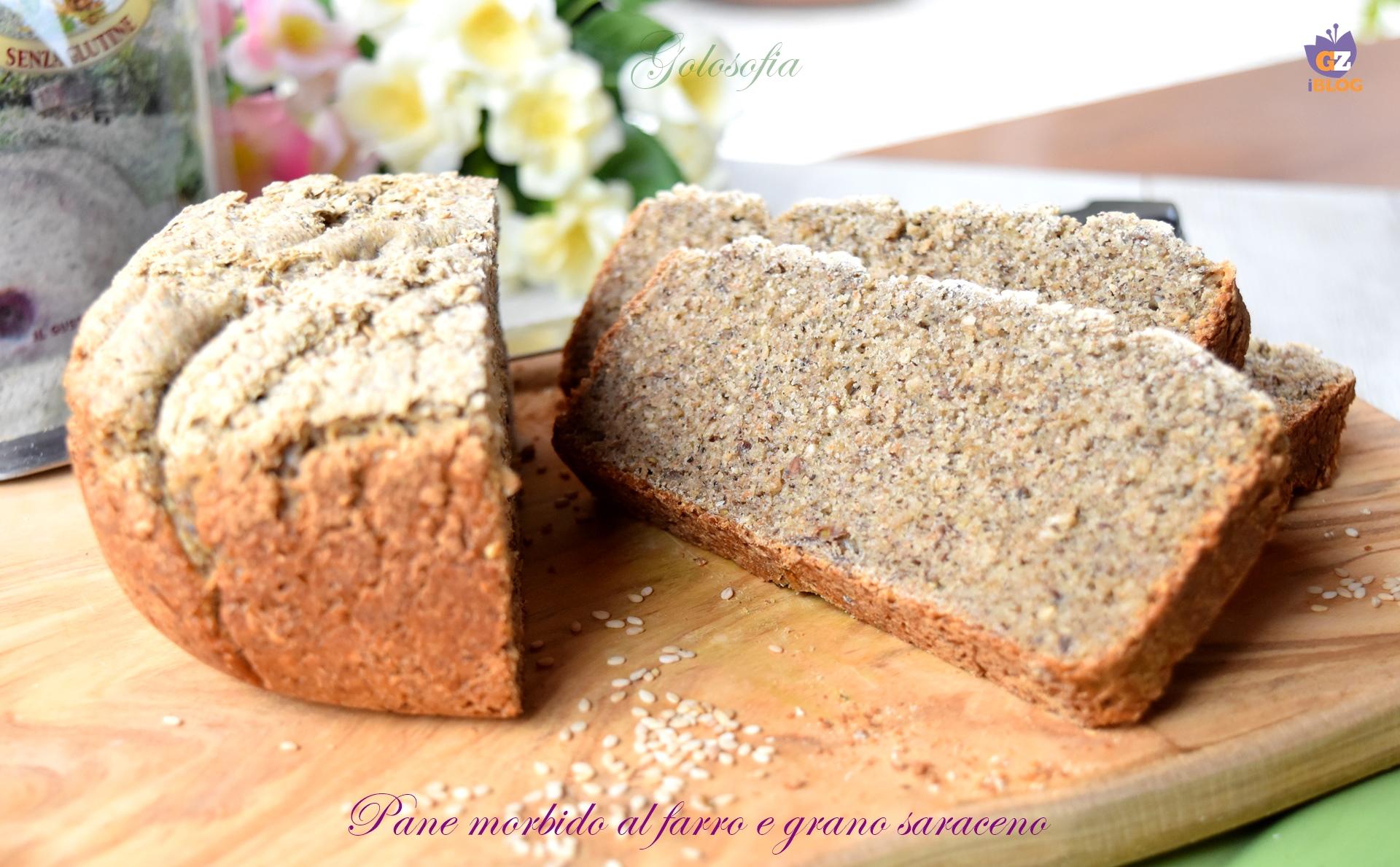 Pane morbido al farro e grano saraceno-ricetta pane e lievitati-golosofia