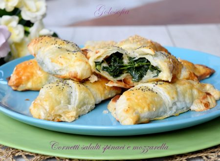 Cornetti salati con spinaci e mozzarella, ricetta sfiziosa