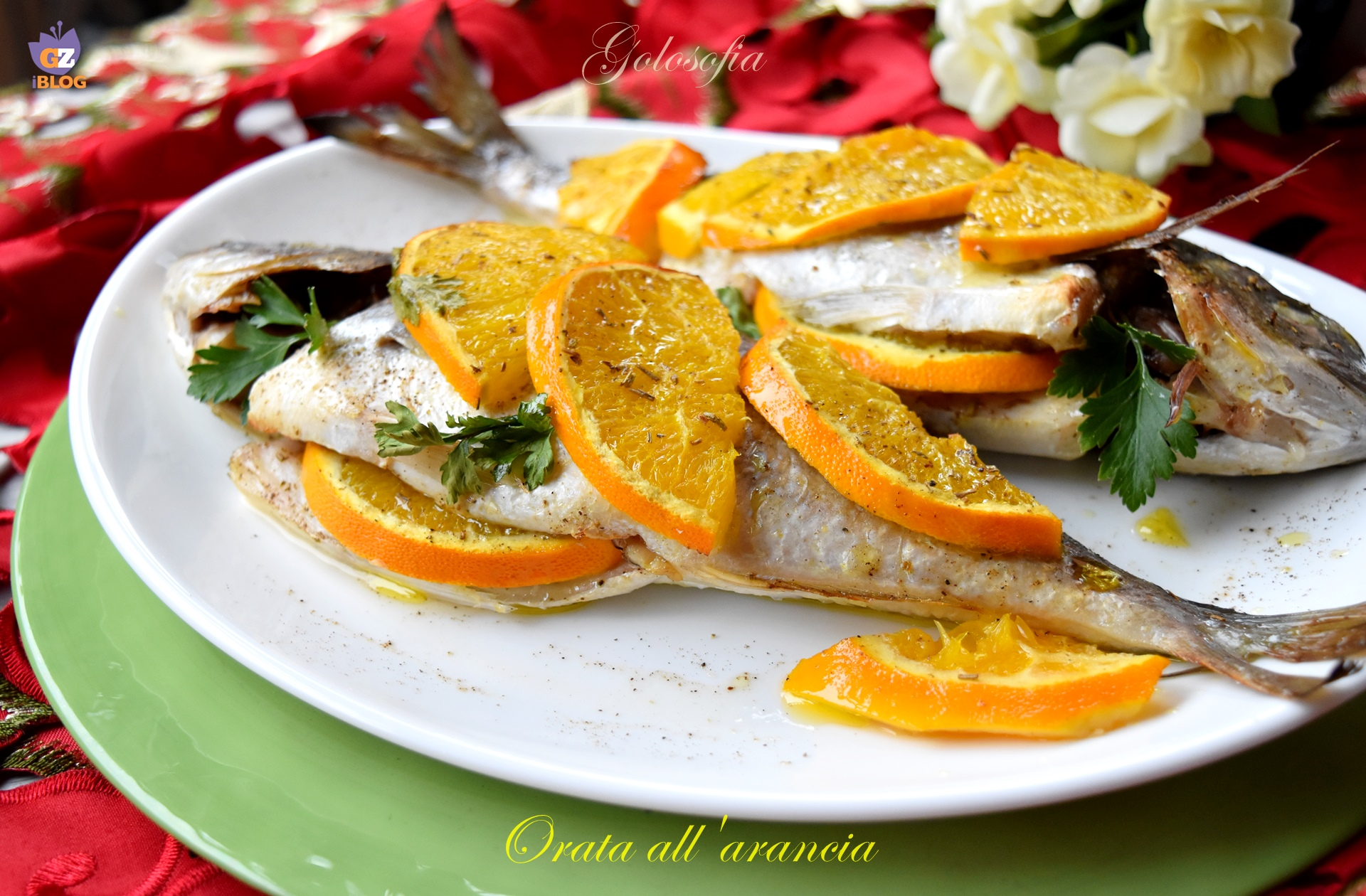 Orata all'arancia-ricetta secondi-golosofia