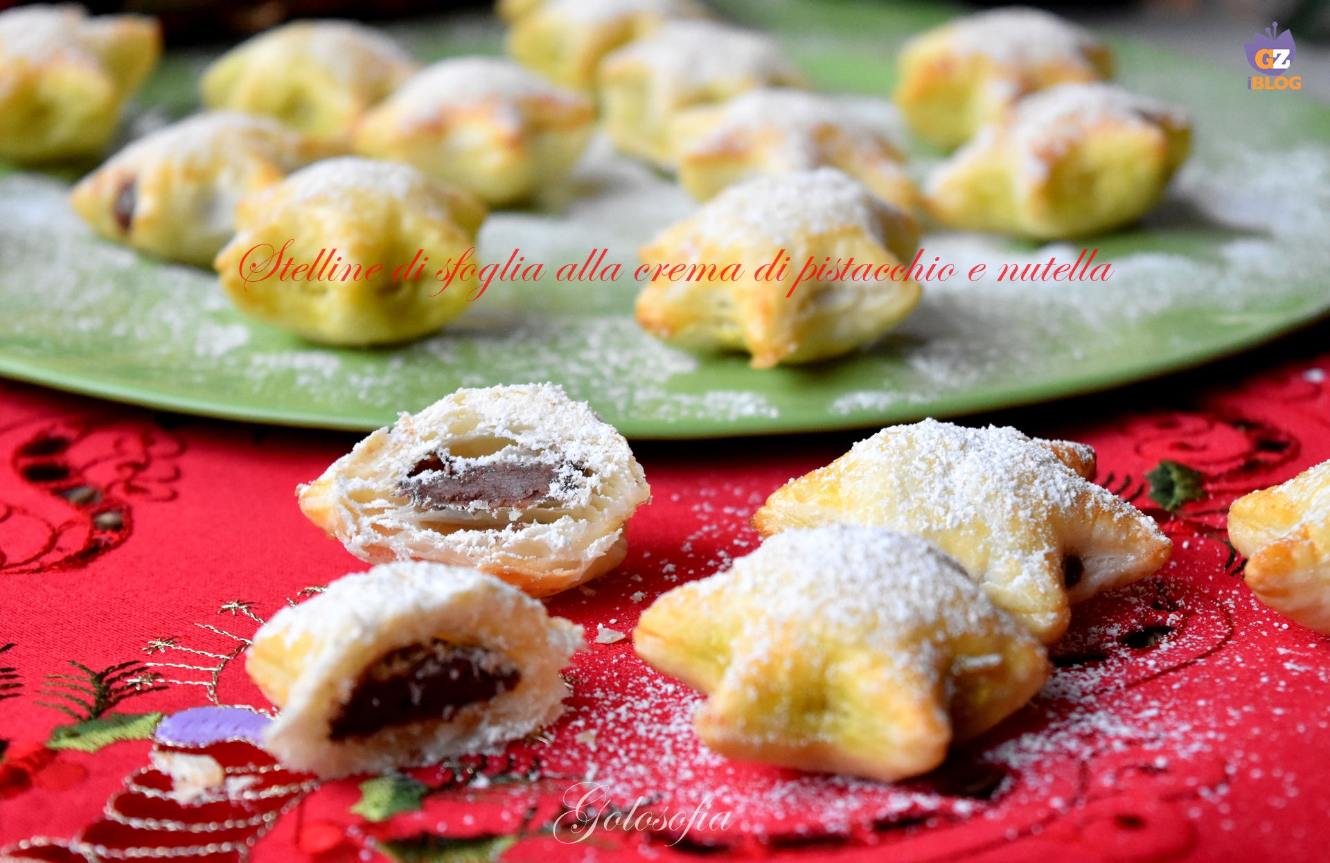 Stelline di Sfoglia alla Crema di Pistacchio e Nutella, Ricetta Golosa di Natale