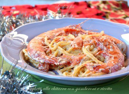 Spaghetti alla chitarra con gamberoni e ricotta, ricetta favolosa!