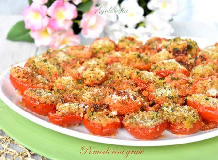 Pomodorini gratè, ricetta al forno semplicissima e saporita