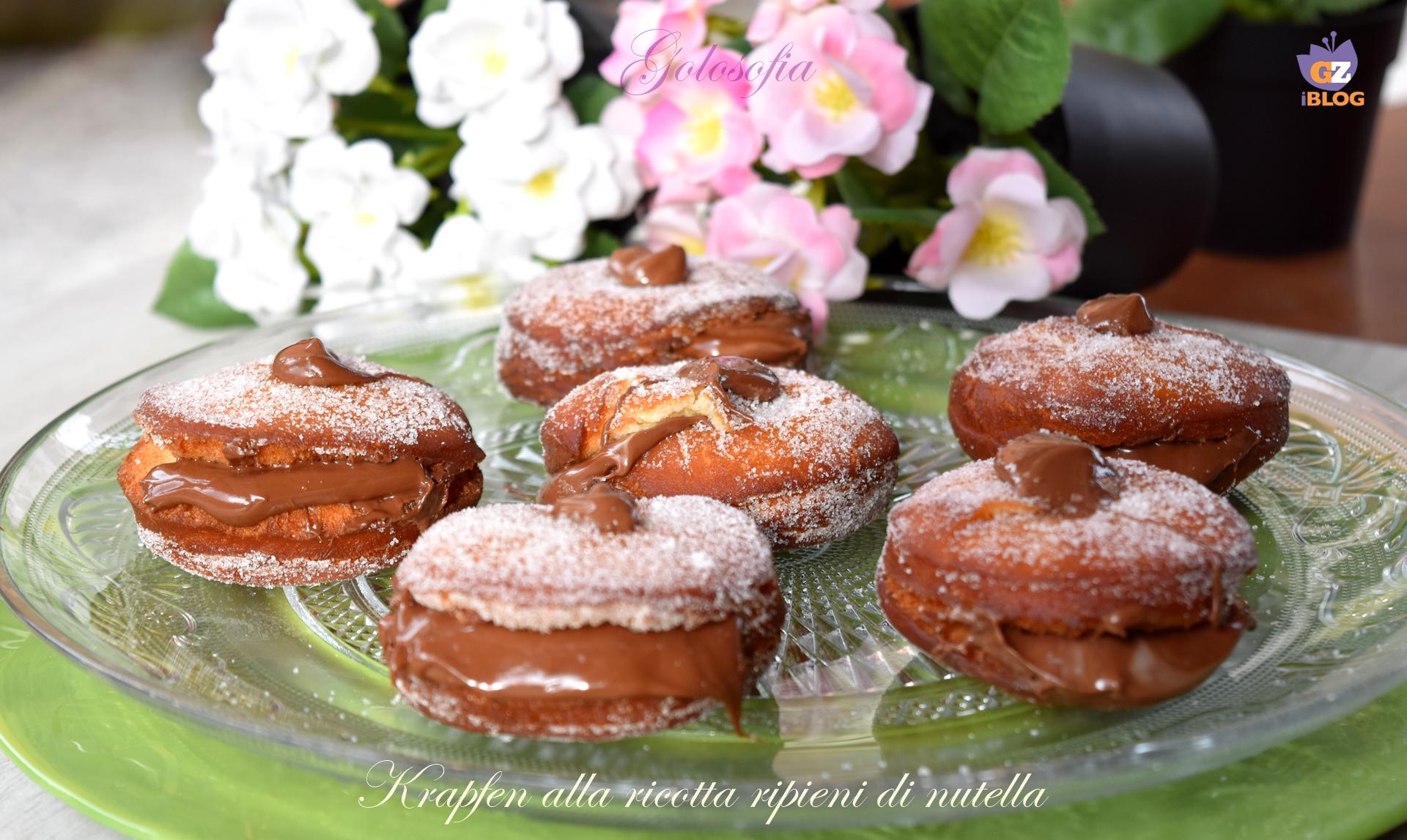 Krapfen alla ricotta ripieni di nutella-ricetta dolci-golosofia