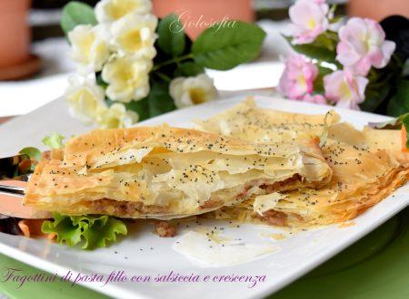 Fagottini di pasta fillo con salsiccia e crescenza, ricetta golosa