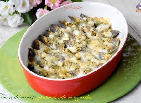 Cuori di carciofo gratinati alla mozzarella, ricetta contorni buonissima