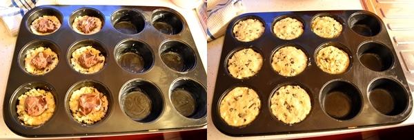 Muffin cookies con cuore alla nutella-ricetta dolci-golosofia