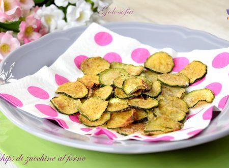 Chips di zucchine al forno, croccanti, dorate e leggere
