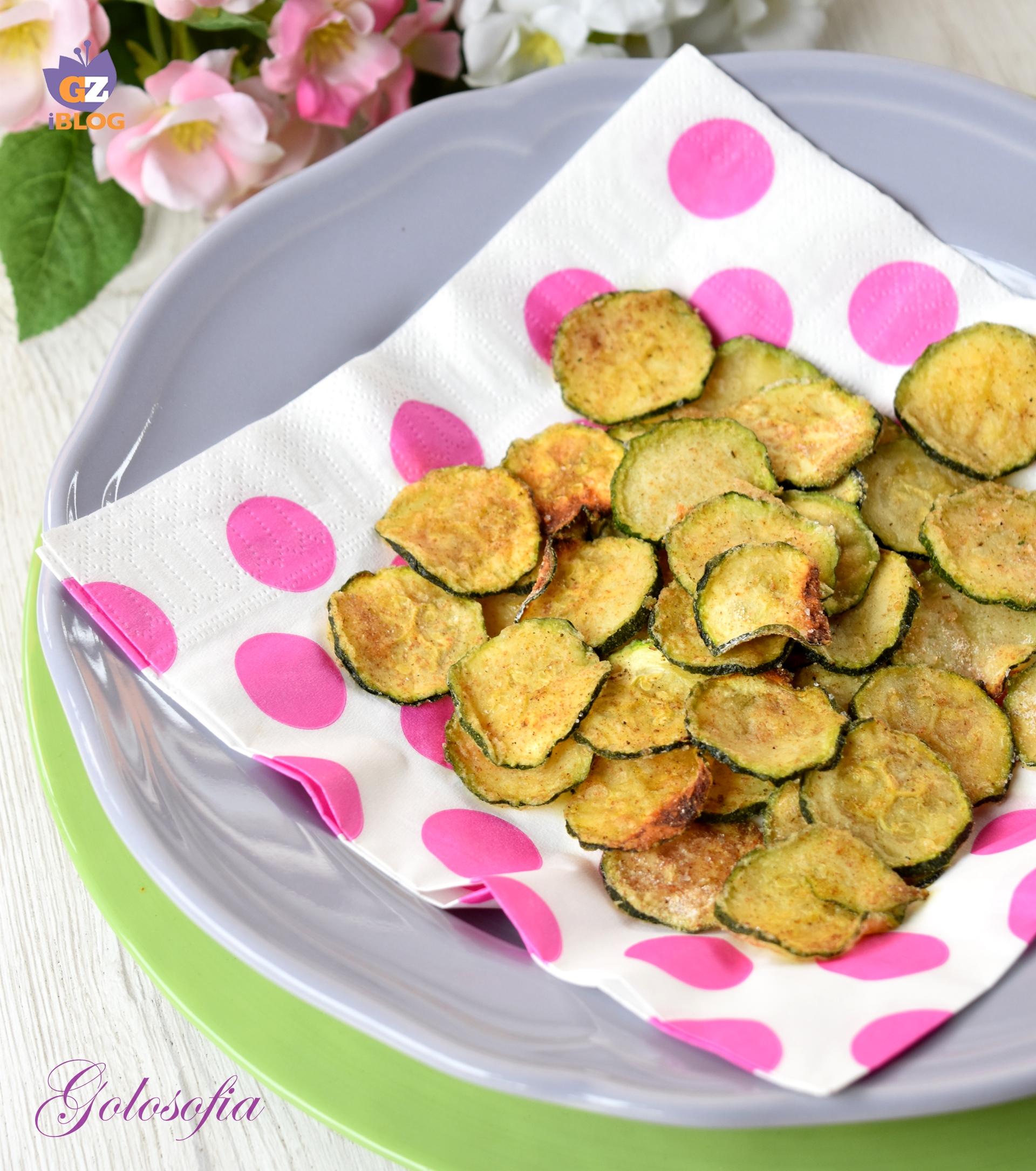 Chips di zucchine al forno-ricetta contorni-golosofia