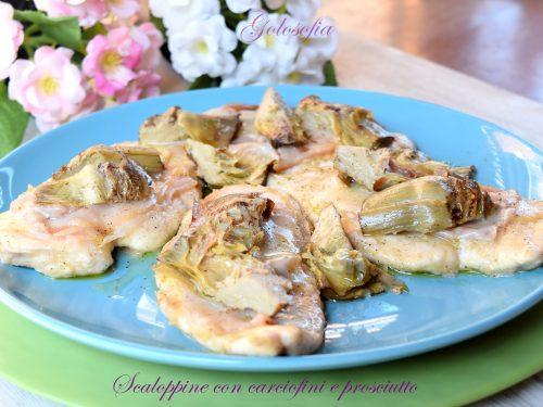 Scaloppine con carciofini e prosciutto, ricetta gustosissima e veloce