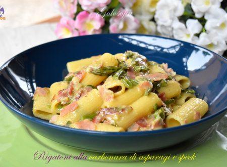 Rigatoni alla carbonara di asparagi e speck, ricetta favolosa!