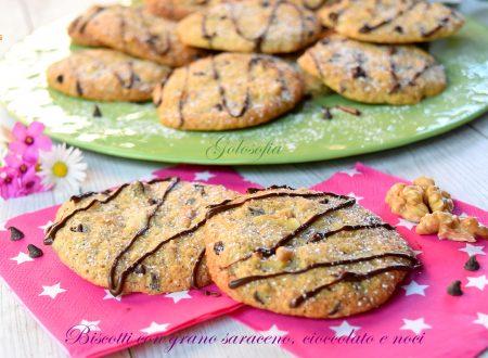 Biscotti con grano saraceno, cioccolato e noci, semplici e buonissimi
