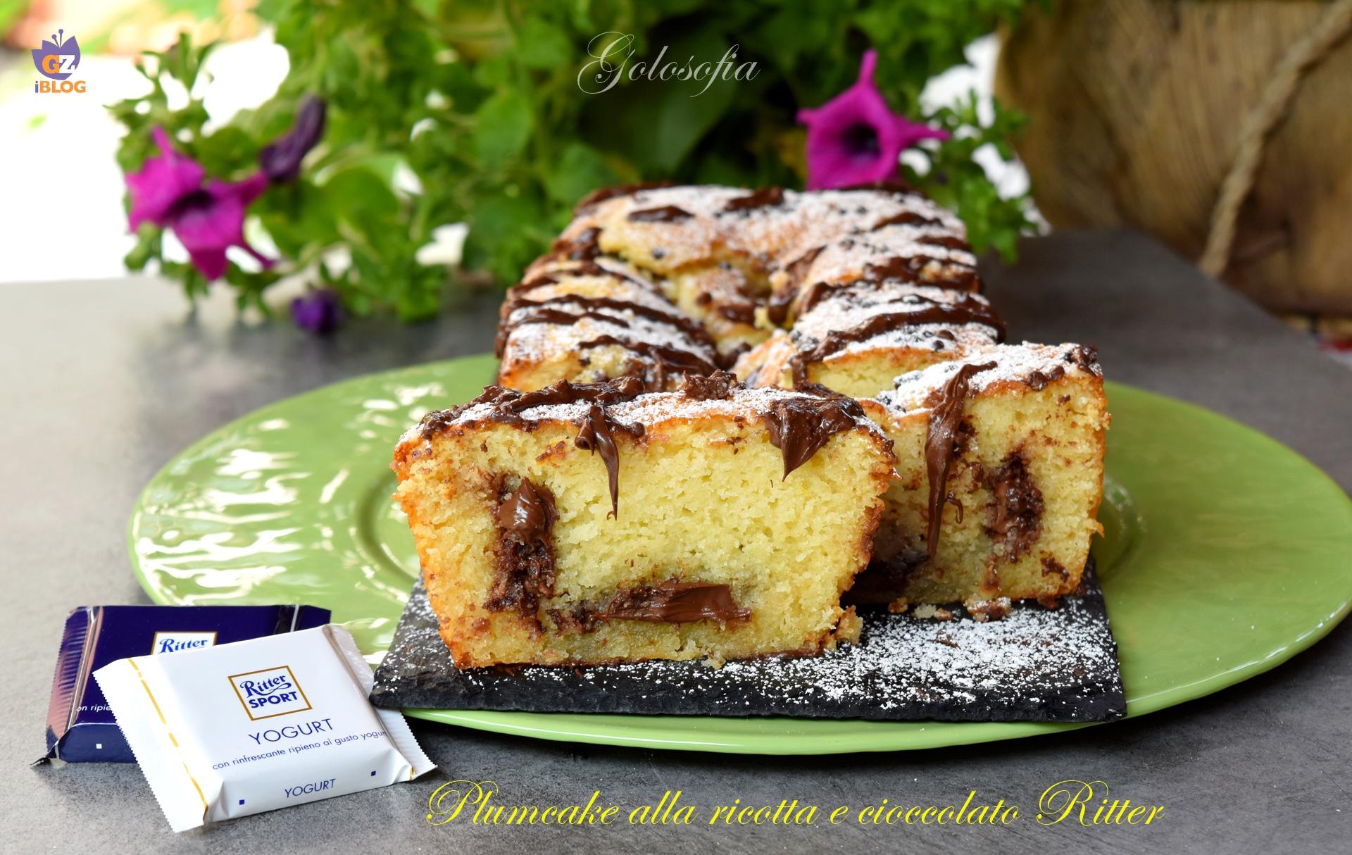 Plumcake alla ricotta e cioccolato Ritter-ricetta dolci-golosofia
