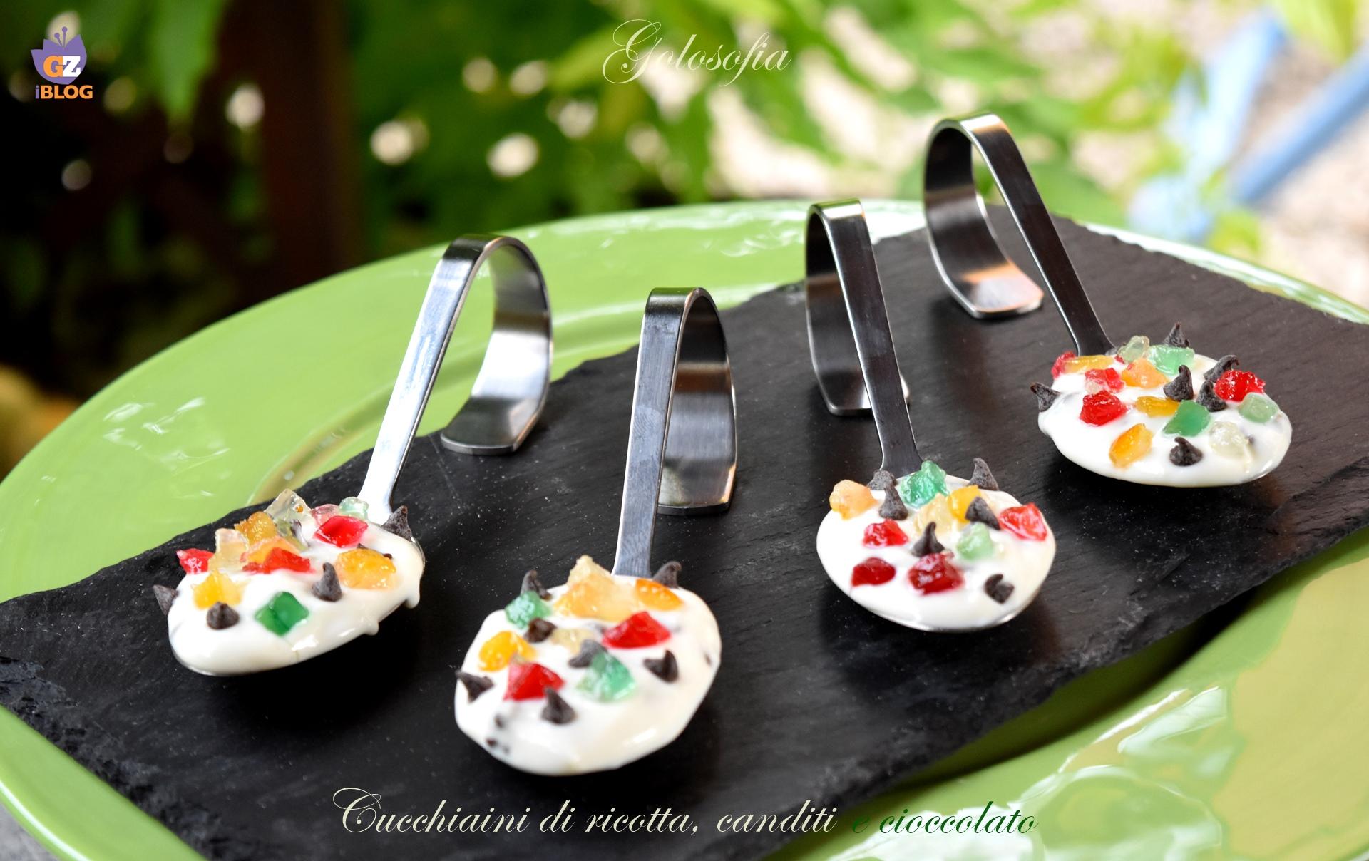 Cucchiani di ricotta, canditi e cioccolato-ricetta dolci-golosofia