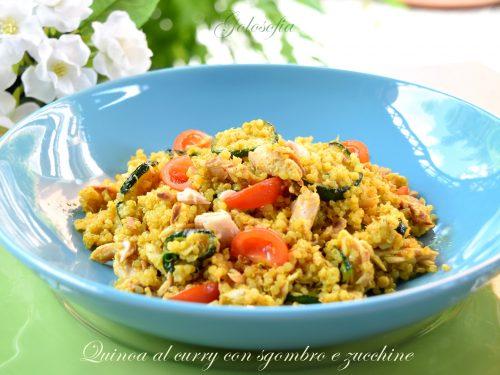 Quinoa al curry con sgombro e zucchine, ricetta veloce e gustosa