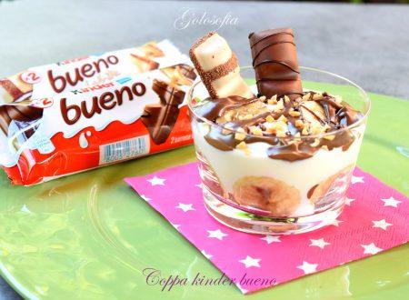 Coppa kinder bueno, dessert golosissimo e veloce!