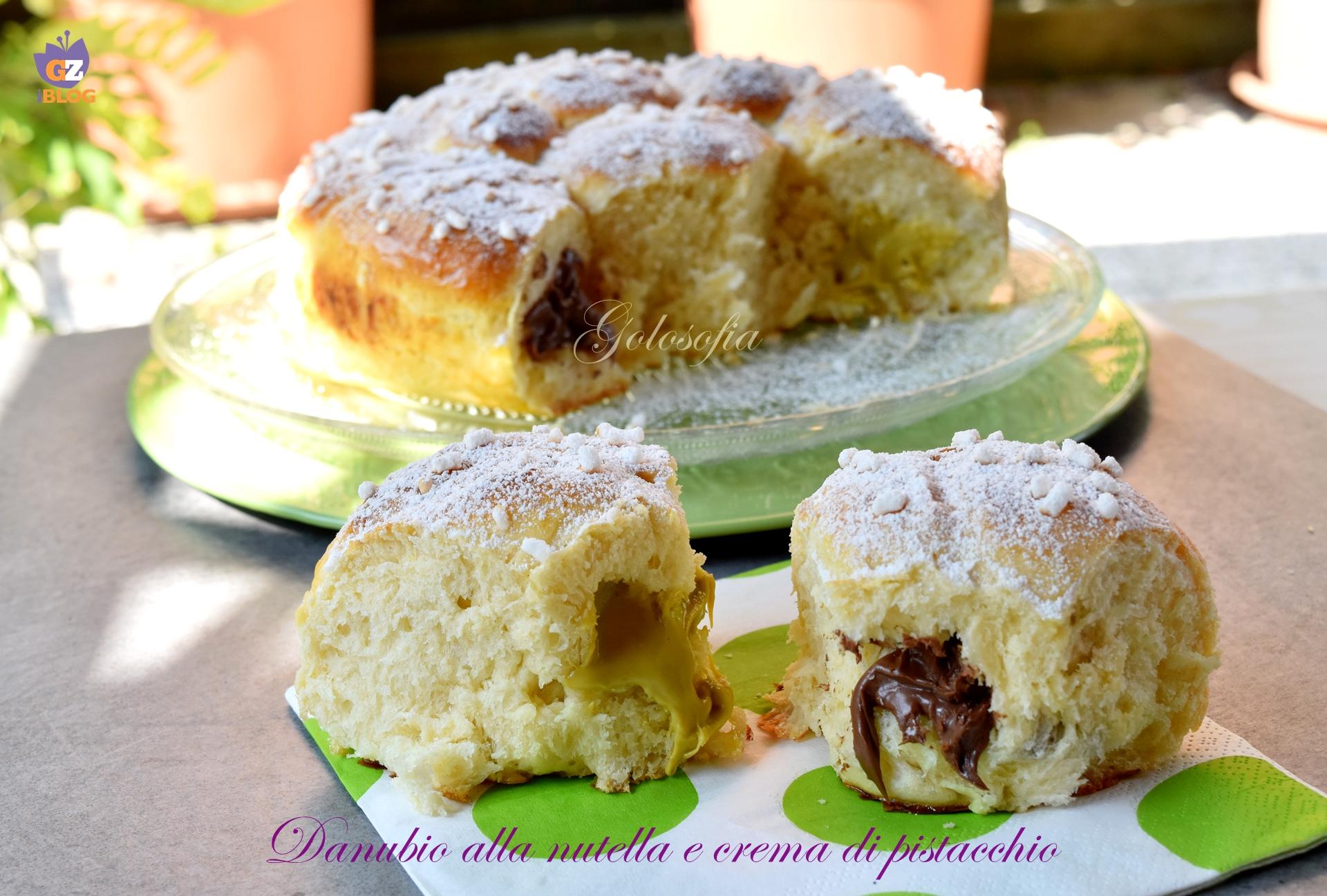 Danubio alla Nutella e Crema di Pistacchio, Goloso e Sofficissimo