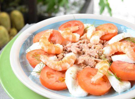 Caprese di mare, ricetta fresca, gustosa e veloce