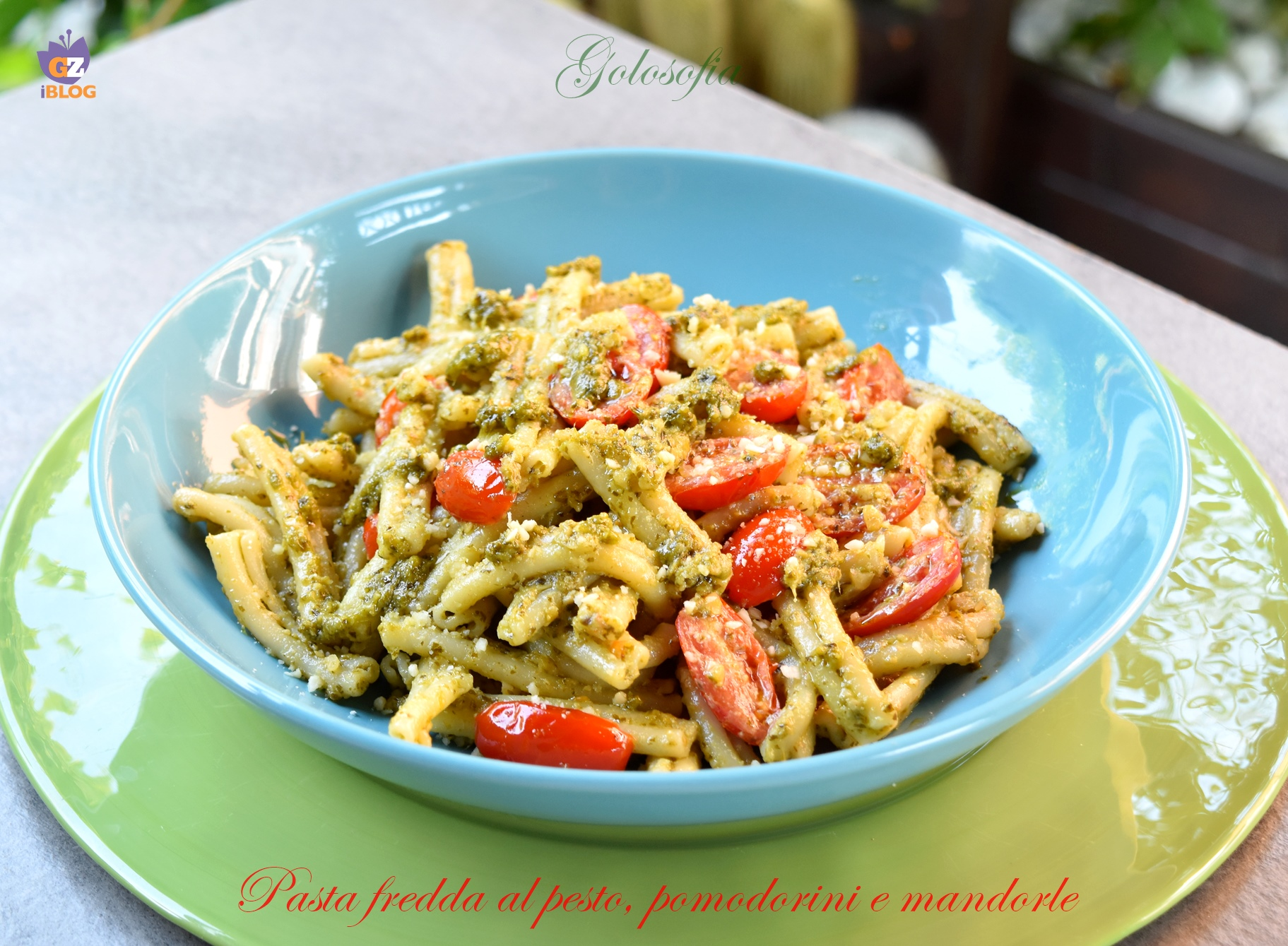 Pasta Fredda al Pesto, Pomodorini e Mandorle, Semplice e Buonissima
