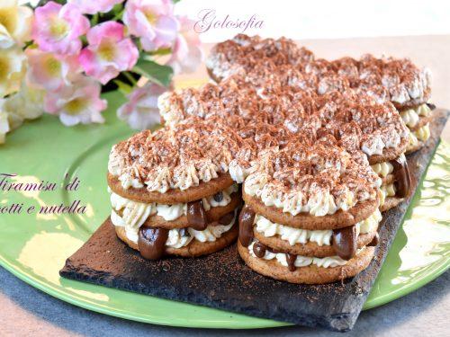 Tiramisu' di biscotti e Nutella senza uova, dessert goloso e veloce