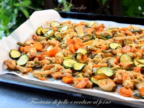 Fantasia di pollo e verdure al forno, ricetta speziata e leggera