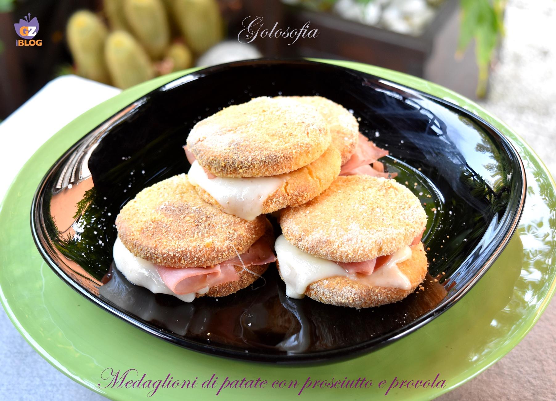 Medaglioni di patate con prosciutto e provola-ricetta secondi-golosofia