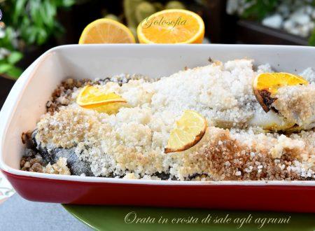 Orata in crosta di sale agli agrumi, buonissima e leggera