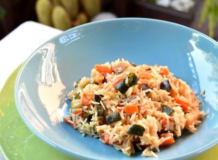 Risotto alle verdure grigliate, ricetta sana e gustosa