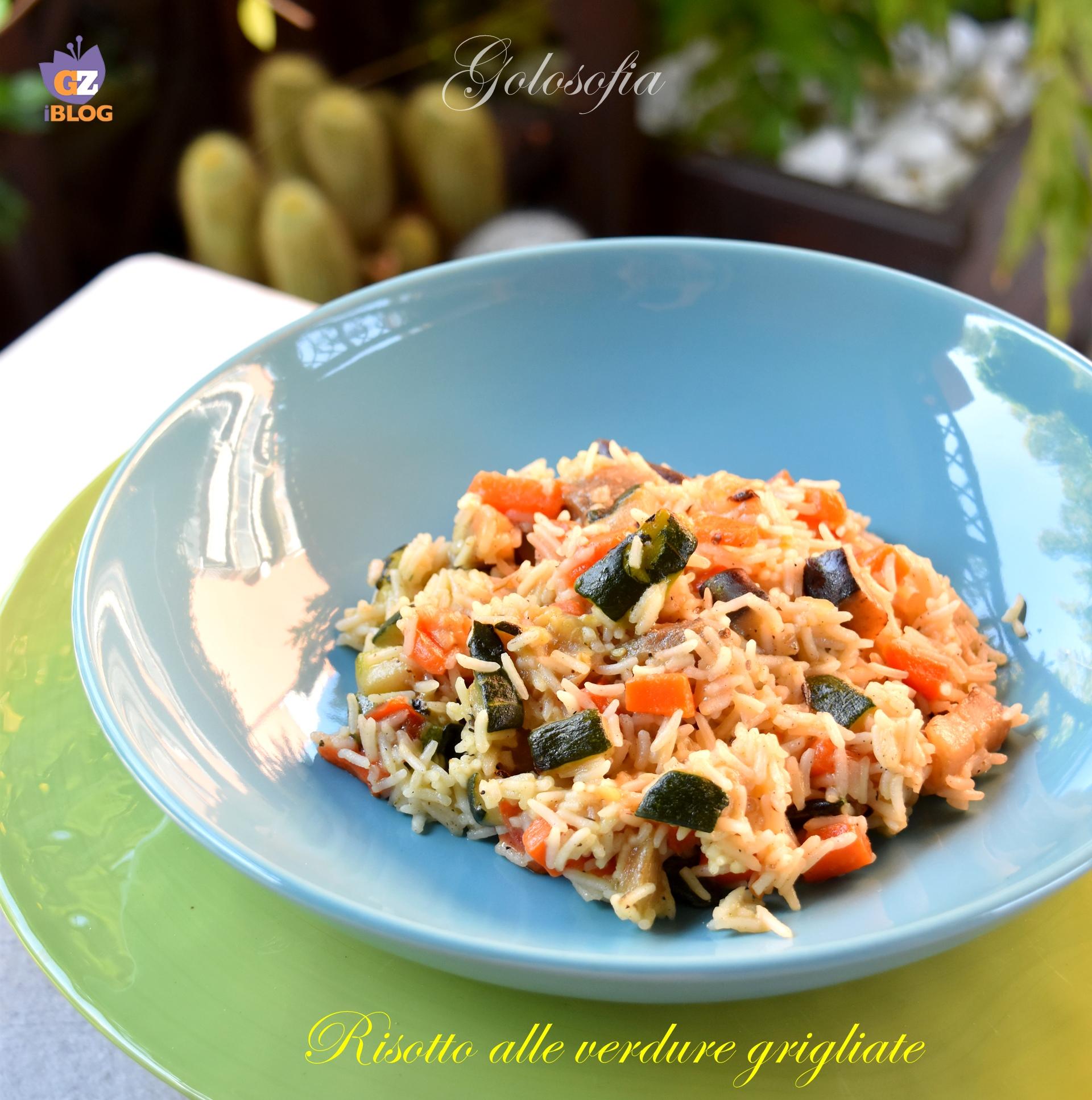 Risotto alle verdure grigliate-ricetta primi-golosofia