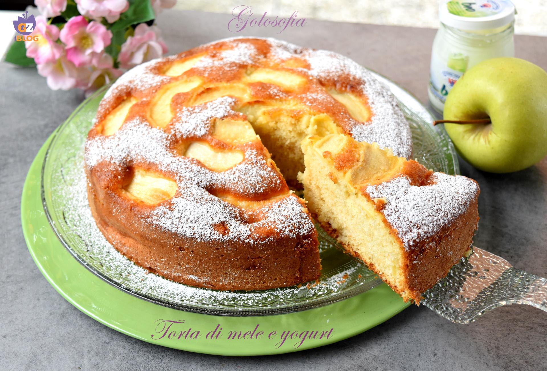 Torta di mele e yogurt-ricetta torte-golosofia