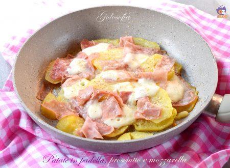 Patate in padella, prosciutto e mozzarella, golose e filanti!