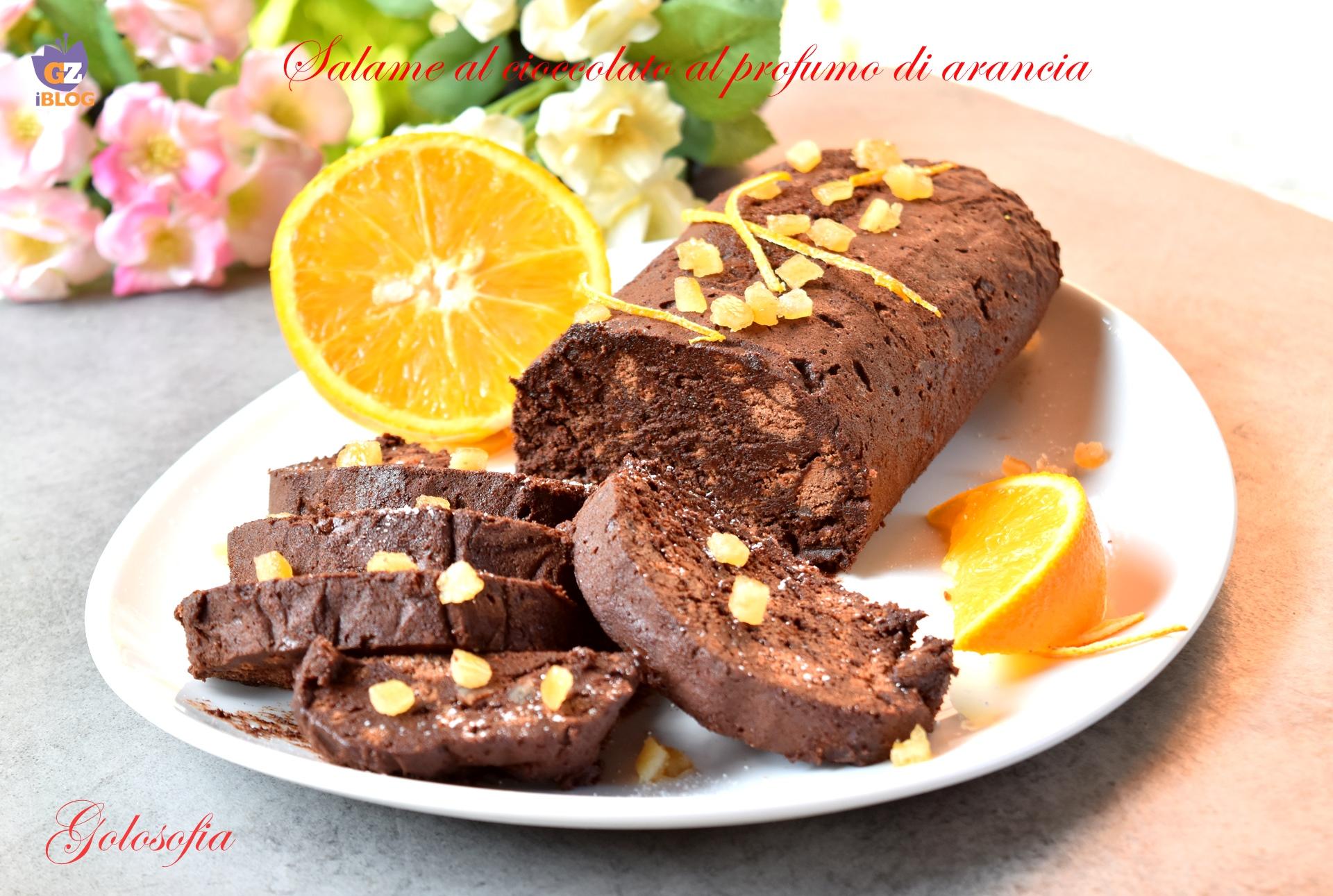 Salame al cioccolato al profumo di arancia-ricetta dolci-golosofia